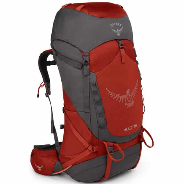 osprey volt 75 men s backpack carmine red 1 1